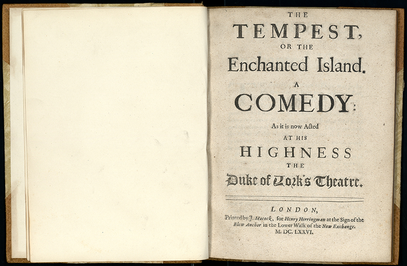 The Tempest, as It is Now Acted at His Highness the Duke of Yorks Theatre