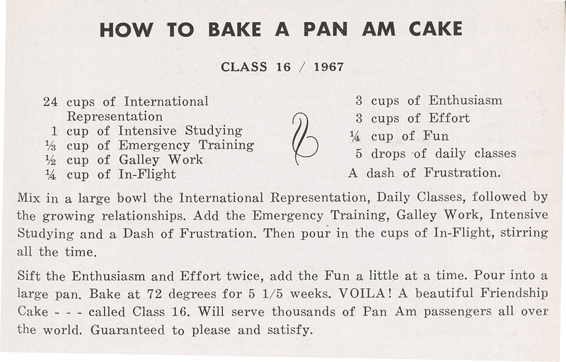 """How to Bake a Pan Am Cake"""