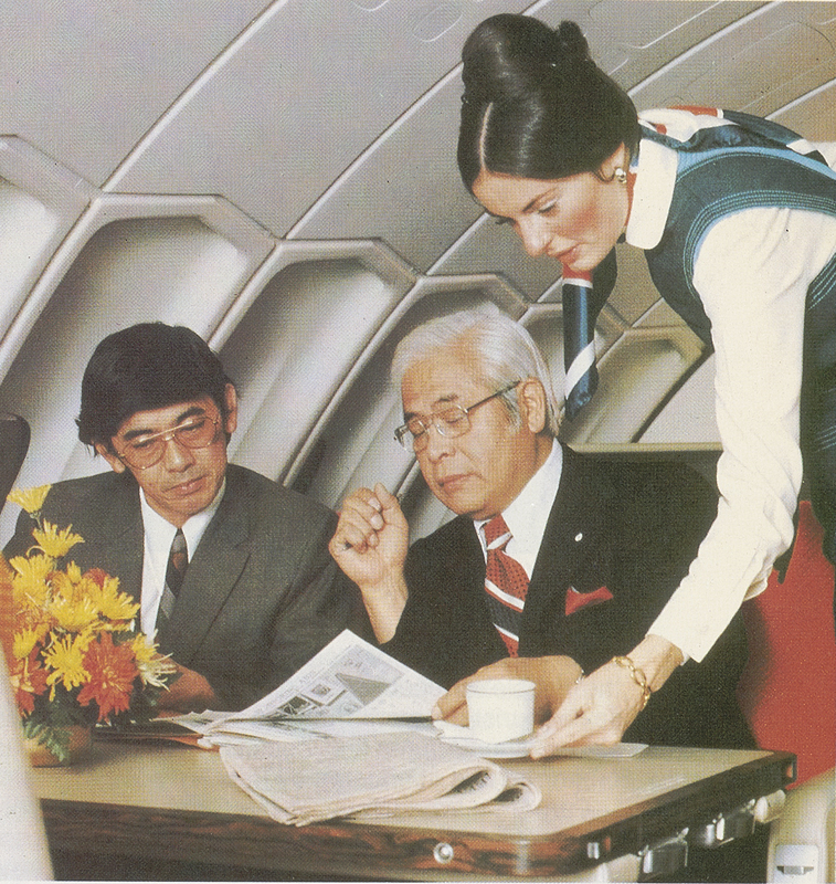 Business class aboard Pan Am aircraft