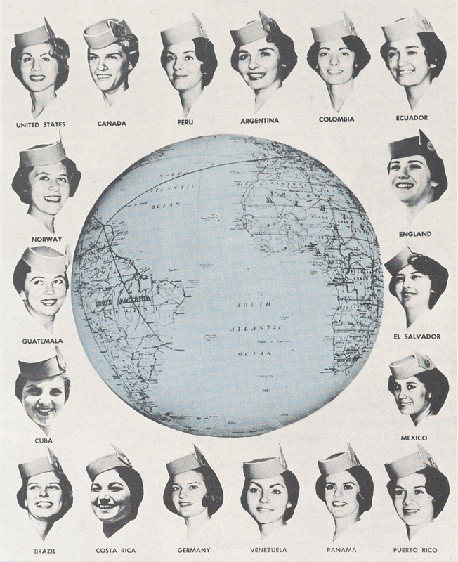 Pan Am stewardesses came from around the globe