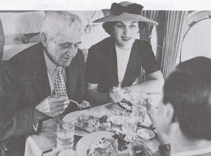 Passengers dining aboard the Sikorsky S-42 in the 1930's