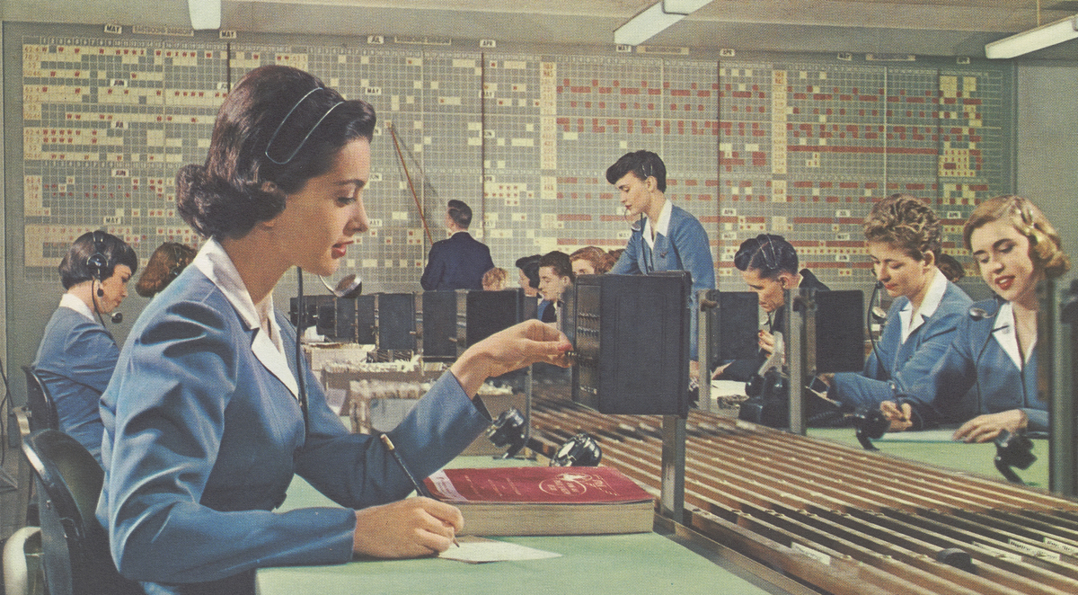 Pan American personnel booking reservations