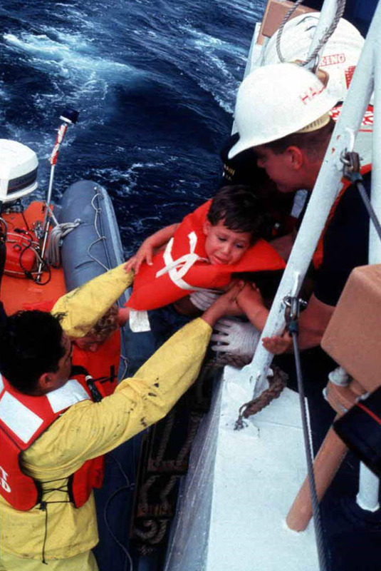 Cuban rafters rescued by the U.S. Coast Guard