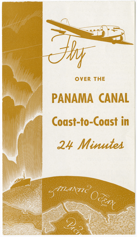 Cover of Pan American World Airways Panama Canal brochure