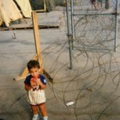 Cuban child in a Guantanamo Bay refugee camp, 1994