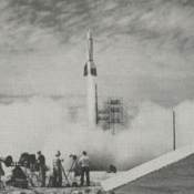 A test missile launch from Cape Canaveral in 1950