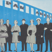 Pan Am personnel were sent to Scandinavia to promote the airline's new jet service