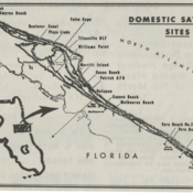 Satellite bases along Florida's East coast, operated by the Guided Missile Range Division