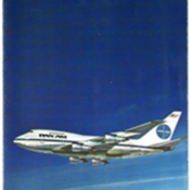 Cover of Pan American World Airways brochure for the Boeing 747SP