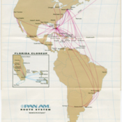 Depleted route structure from Pan American World Airways 1991 timetable