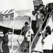 A Freedom Flight arrives in Miami from Varadero, Cuba