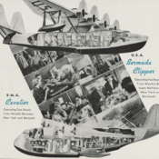 Passengers aboard PAA's Bermuda Clipper and Imperial Airways' R.M.A. Cavalier