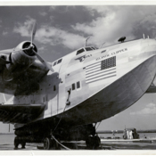 Pan American World Airways Atlantic Clipper, a Boeing 314 flying boat, exterior