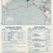 Pan American World Airways route map from 1939 timetable