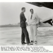 Pan American World Airways Founder, Juan Trippe with Pan American World Airways Technical Advisor, Charles Lindbergh in Panama