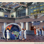 Huge globe of the earth, Pan American Airways Terminal