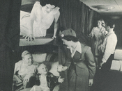 Full-length sleeping berths available aboard Pan American's double-decked Stratocruiser in 1952