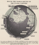 """Round the World Routes of the Flying Clippers"" route map"