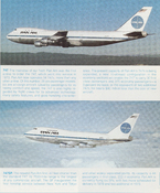 The Boeing 747 (top) and 747SP (bottom) flown by Pan Am