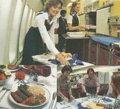 Flight attendants receive table service training