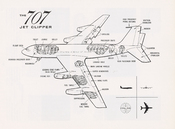 Cutaway diagram of the Boeing 707 Jet Clipper flown by PAA