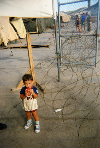 Cuban refugee child
